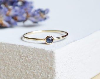 Sapphire Ring, Gold Ring, Birthstone Ring, Dainty Ring, Rose Gold Ring, Gold Stackable Sapphire Ring, 9ct Gold Ring, Sapphire, Gemstone Ring