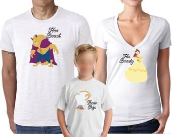 Disney Shirts, Family Shirt, Couples Shirts, Beauty and The Beast Shirt,  Beast
