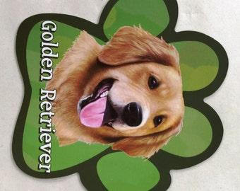 Golden Retriever Car Magnet, Golden Retriever Gifts, Dog Gifts