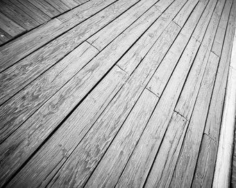 Beach Boardwalk -  Photography - Ocean City, NJ -  Black and White