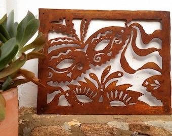 RUSTY Garden ART - rustic metal wall art