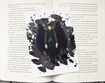 "Rhysand watercolor art print, bookish gift, item, Bookstagram. 5"" x 7""."