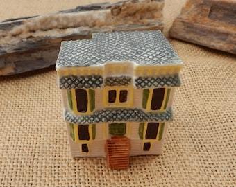 Keller Charles Philadelphia Ceramic 2 Story House #3032  ~  Ceramic House Made in England for Keller Charles  ~ Keller Charles 2 Story House