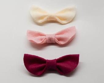 Three angel hair bows