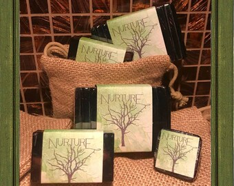 ACTIVATED CHARCOAL Facial Soap Bar Tea Tree // GLYCERIN Facial Bar Soap // Vegan // Nurture // Antifungal