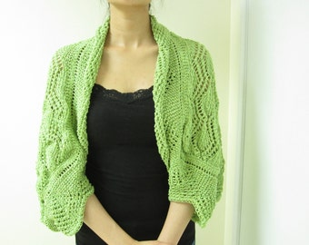 Apple Green Laced Shawl (Free Shipping)