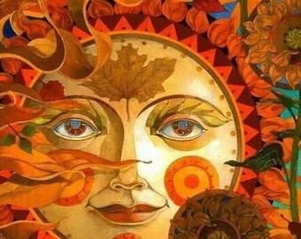 "David Galchutt - AUTUMN SUN  Rug Hooking Pattern (30"" X 22"", 36"" x 26"")"
