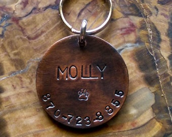 Dog Tags For Dogs, Dog ID Tag Dog, Tag, Hand Stamped Dog Tags, Medium, Large Dog ID Tag, Pet Tags, Pet ID Tags, Dog Tag
