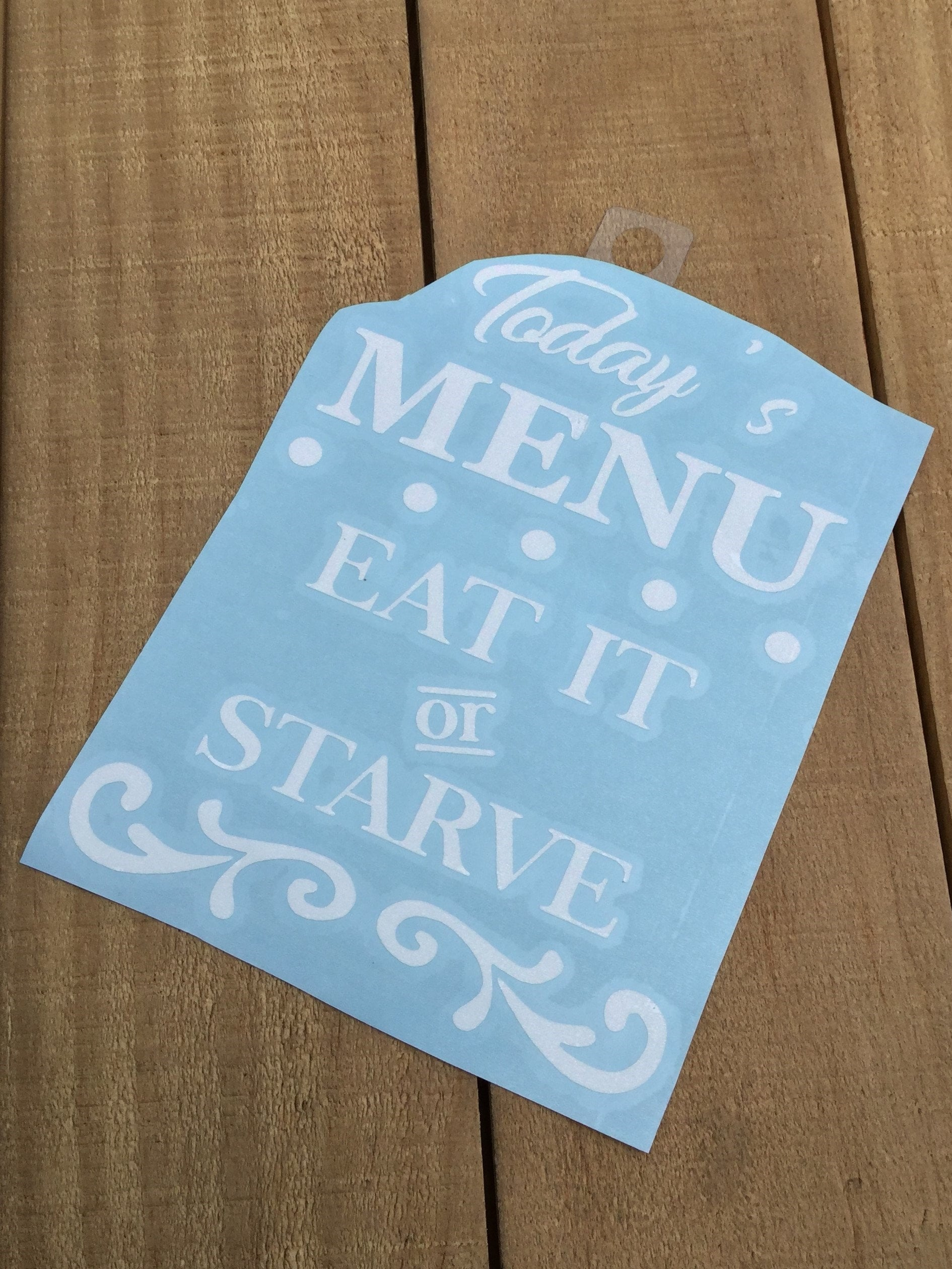 Menu Decal Mom Decal Mom Life Car Decal Kitchen Decal
