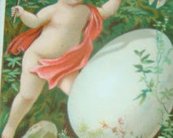 SALE Victorian Scrap (Child with an Egg) #2
