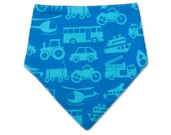 Transport Bandana Bib - Cotton Dribble Bib - Car Bib - Baby Boy Gift - Drool Bib - Baby Fashion - Baby Shower - Baby Bandana - Plane Bib