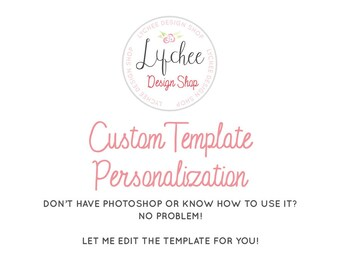 Personalize my Template | Add on Listing Customization