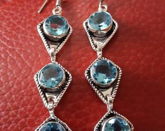 Baby Blue Quartz Earrings!