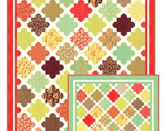 Hazel & Blooms - Quilt Pattern by Joanna Figueroa - Layer Cake or Charm Pack Quilt Pattern