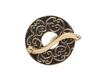 SAKI Bronze Damask Toggle Clasp 23mm