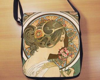 Alphonse Mucha Primrose, Small Shoulder Bag, Art Nouveau, Small Crossbody Bag, Small CrossBody Purse, Cross Body Bag, Sling Bag, Small Purse