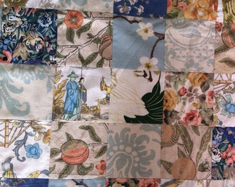 single bed patchwork quilt tulips
