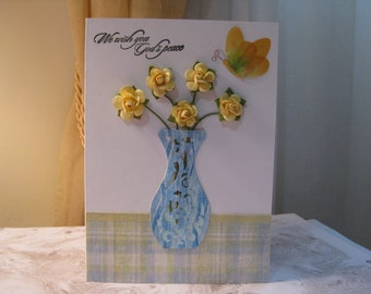 Sympathy card, Religious sympathy card, We wish you God's peace