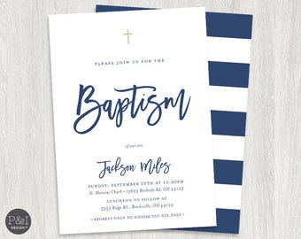 Baptism Invitation | Christening Invitation | Boy or Girl DIY | Printable 7x5
