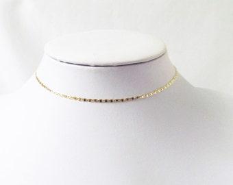 gold choker dainty necklace, chocker, gold choker, delicate choker, minimalist necklace, chocker necklace