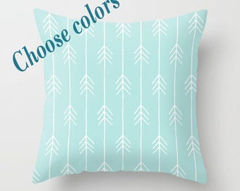 Custom Colors Arrows Throw Pillow with insert, Indoor, Outdoor, Gift, Love, Valentines day, Basic, Modern, Style, Elegant, Girlfriend, Mom