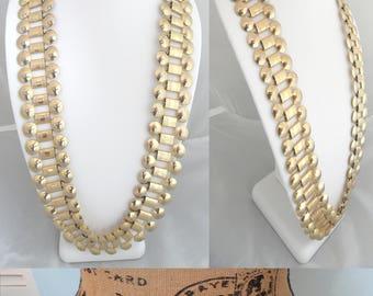 Convertible Necklace Chain Link Belt Runway Statement Necklace Art Nouveau Belt Convertible Jewelry Bold Avant Garde Jewelry Unique Belt