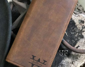 Personalized Wallets, for Men, Mens Leather Wallet, Mens Bifold Long Wallet, Personalized Wallet, Gift for Men, Gifts for Him, Husband Gift