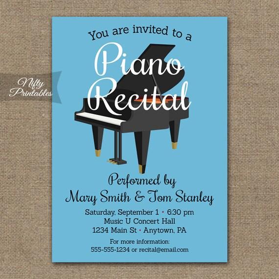 Invitaciones de Recital de piano concierto de Piano para