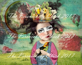 Spring Equinox-LIMITED EDITION- Digital collage fine art print