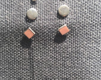 Set of Sterling Silver Post Earrings