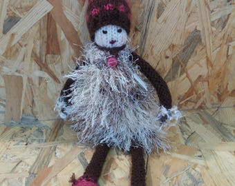 """Snips"" knit doll"