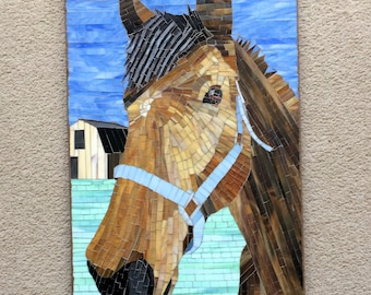 Horse Brownie Mosaic Wall hanging 8A3B33