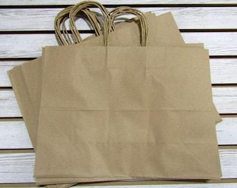 """16"""" X 6"""" X 12"""" Kraft Paper Bags - 20 Pcs"""