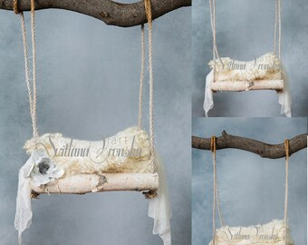 Baby Swing set of three, Digital Backdrop for newborn photography, Newborn Digital Backdrops Instant Download, wooden swing for newborn