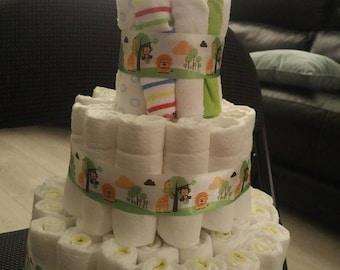 Neutral Baby Diaper Cake