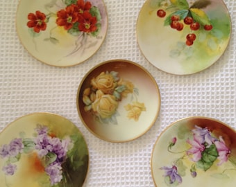 Set of 5 Jul H Bauer handprinted plate