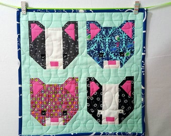 Mini Quilt Kitten Faces - Special Order You Pick Your Favorite Faces