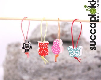 Soul Band - Knitting Stitch Markers, Set of four Knitting Place Markers made out of recycled plastic