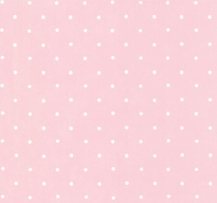 Wallpaper White Polka Dots On Soft Pink Whimsical Girls