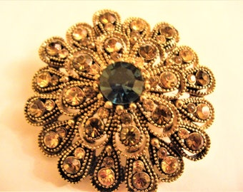 Brooch flower strass the vintage 50s French,Mother's day,Jewels,vintage jewels,vintage brooch,présent for Her