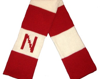 Rugby Initial Scarf for Adults