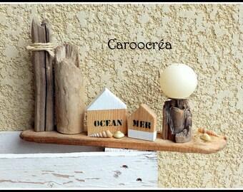 Driftwood Beach decor candle holder