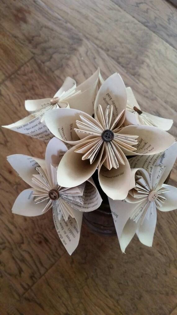 Book paper flowersbook flowers tea stained paper flowers mightylinksfo