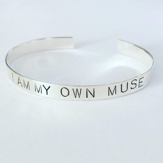 Frida Kahlo Quote Cuff in Sterling Silver - Muse - Inspiration - Hand Stamped