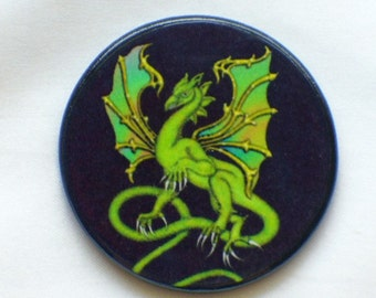 HERE Be DRAGONS Fantasy Talisman Amulet Witch Wicca