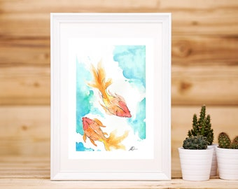 Watercolour Gold Fish