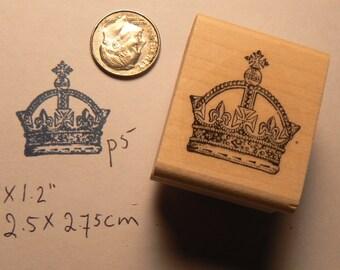 Crown rubber stamp WM P5