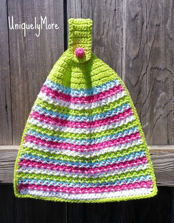 Kitchen Towel,Crochet Pattern,Hanging Towel,Kitchen Decor,Decorative ...
