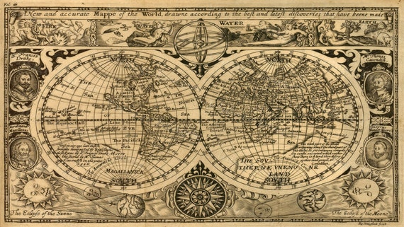 Giant historic 1628 old map antique restoration hardware style gumiabroncs Gallery