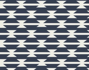 "FABRIC Remnant - Tomahawk Stripe Navy - Arizona Collection - Art Gallery Fabrics - 14""x42"""